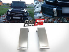 (2) Polished Chrome Moulding Bumper Covers  for Mercedes Benz W463 AMG G Class
