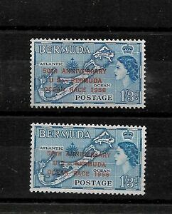 Bermuda, 1956 QEII Ocean Race Anniversary optd, 1/3d unlisted shade LMM (B210)