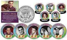 ELVIS PRESLEY Greatest Songs (Set A) JFK Half Dollar 5-Coin Set (Jailhouse, etc)