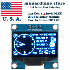 "1.3 Zoll OLED 128*64 Blue LCD 128X64 LED Display Modul für Arduino 1.3"" IIC I2"