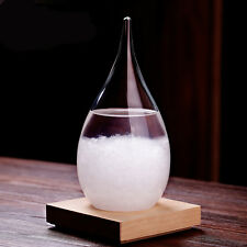 Storm-Glass Barometer Large Crystal Drops Water Shape Weather Forecaster