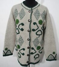 Geblümte Damen-Pullover & -Strickware aus Wolle mit Knöpfen