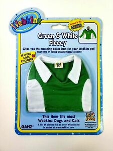 Ganz Webkinz Green and White Fleecy Fits most Webkinz Dogs and Cats