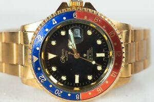 Croton Reliance Men's Dive Watch, Vintage Pepsi Submariner Homage Croton