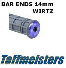 HUSABERG-Bar Ends 14mm-se adapta a la mayoría de las barras de aluminio (azul, rojo