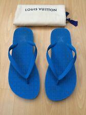 LOUIS VUITTON MENS BLUE RUBBER SANDALS THONGS SHOES UK 11 45