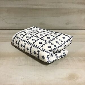 "Threshold Embroidered Grid Sham Blue Standard 26"" L X 20"" W 100% Cotton"