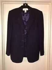 Jones New York Women's Wool Jacket Coat Purple Formal Size 10 Made In The USA