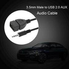 3.5mm Male to USB Female Car AUX Auxiliary Stereo Audio Adapter Transfer Cable