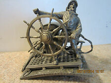 """NAUTICAL, PEWTER SCULPTURE, """"INTO THE STORM"""""""