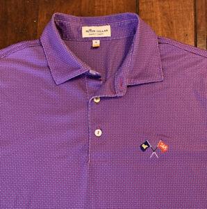Peter Millar Summer Comfort Mens M DAVID TOMS ACADEMY 265 Purple Polo Golf