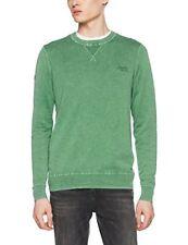 Superdry Garment Dye L.a. Crew Sweat-shirt de Sport Homme Verde (washed Cap...