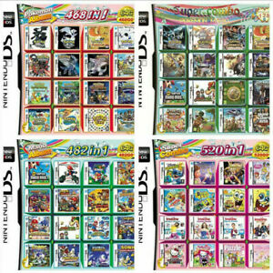 468/482/208/520 In 1 Games Game Multi Cartridge For DS NDS NDSL NDSi 3DS/ XL(