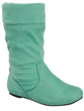 SIZE 9 MINT KID Boot Flat Heel Mid Calf Girl Shoes Toddler Slouch Youth J9