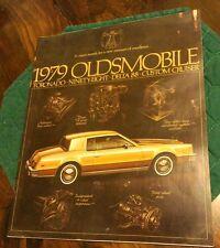1979 Oldsmobile Toronado Ninety Eight Delta 88 Cruiser Sales Brochure Literature