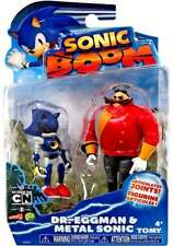 "SONIC BOOM DR.EGGMAN & METAL SONIC FIGURE SET 3""  Super Sonic The Hedgehog Toy"