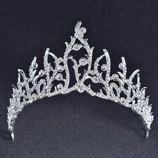 Wedding Bridal Bridesmaid Prom Party Rhinestone Flame Shape Tiara Crown