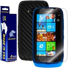 ArmorSuit MilitaryShield Nokia Lumia 610 Screen + Black Carbon Fiber Skin! New!