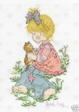 Cross Stitch Kit - DMC - 14 Count - Sarah Kay - Lucie and Kitty