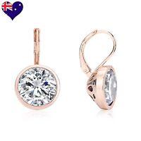 Bella Rose Gold Cubic Zirconia Drop/Dangle Earrings Wedding-Gift-Jewellery