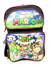 "Super Mario 16"" Large Backpack. Authentic Brand New."