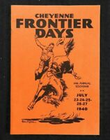 1940 CHEYENNE WYOMING FRONTIER DAYS RODEO FESTIVAL PROGRAM ABSOLUTELY MINT SHAPE