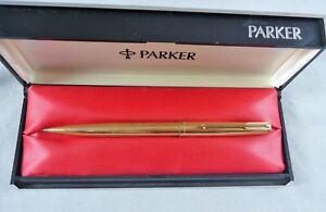 VINTAGE ESTATE PARKER 61 INSIGNIA 1/10TH 12K GOLD FILLED PENCIL/BALLPOINT