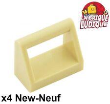 Lego - 4x Tile Modified 1x2 dossier poignée handle beige/tan 2432 NEUF