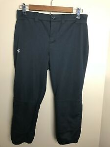 Under Armour UA Women's Strike Zone Softball Pants Sz S Fastpitch Black 1281968