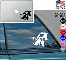 Animal lover Horse Dog Cat Love Pet Vinyl Decal Sticker for Car Window Laptop