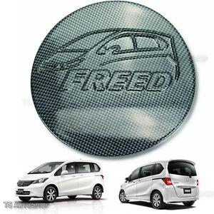 Black Carbon Fuel Oil Cap Tank Cover Trim Fits Honda Freed 4D Hatchback 2010 16