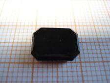 Ringstein Onyx rechteckig ca. 12x11mm schwarz, hochglanzpoliert, Baguetteschliff