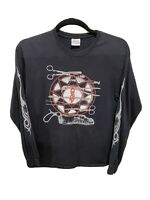 Slipknot Scissors Medium Black Tshirt Long Sleeve 2005 Hanes Heavyweight Vintage