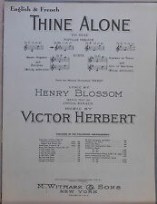 "Thine Alone ""Toi Seule"" - 1951 sheet music  - English & French - from ""Eileen"""