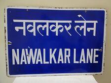 Navalkar Lane Vintage Street Sign Porcelain Bombay Historical Memorable Rare #F