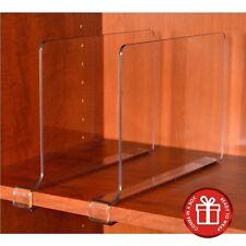 ClosetMate Beautiful 4 Pack Acrylic Shelf Dividers - Unbreakable Crystal Clea...