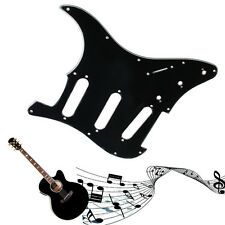 Black 3 Ply Electric Guitar Pickguard Scratch Plate For Strat Stratocaster New