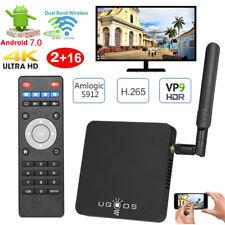 UGOOS AM3 Amlogic S912 Octa Core Android 7.1 TV BOX 2G/16GB WiFi 4K Media H1R4