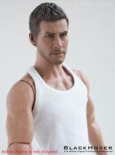 1/6 White Color Sleeveless Undershirt (BlackHover 1:6 Vest for Action Figure)