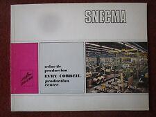 1971 PLAQUETTE SNECMA EVRY-CORBEIL USINE PRODUCTION MOTEUR AVIATION ENGINE