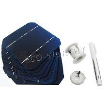 80pcs 5x5 Mono Solar Cells Kit w/ Tabbing Bus Wire Flux Pen Power Charge Light