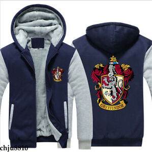 Harry Potter Gryffindor Zip Sweatshirt Casual Sweater Boys Jacket Thick Hoodies