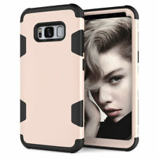 For Samsung Galaxy S8 S8 Plus Rugged Hybrid Full Body Shockproof Hard Case Cover