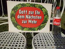 """Alte Werbung der Feuerwehr """"GOTT ZUR EHR DEM NÄCHSTEN ZUR WEHR"""" -Top Erhaltung -"""