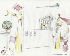 "Dimitris C. Milionis ""AEGEAN"" Signed Pencil Study Drawing Paper 2004 Greek"