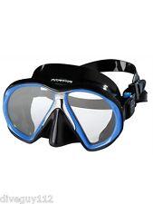 Atomic SubFrame Dive Mask for FreeDiving Scuba Snorkeling Black/Royal Blue