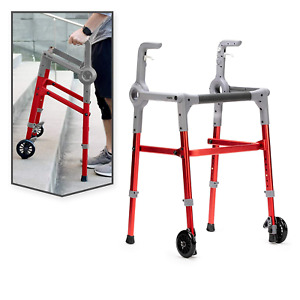 Progressive Mobility Aid Walker with 2 Wheels RollatorSelf-Adjusting