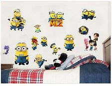 Minions Despicable Me 2 Wall stickers Vinyl Decal Removable Kids Room Baby Decor