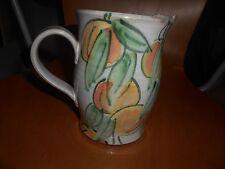 art pottery, signed water/fruit jug