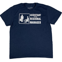 The Office T-Shirt Short Sleeve Men L Blue Assistant to the Regional Manager